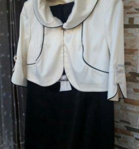 Платье с накидкой 54
