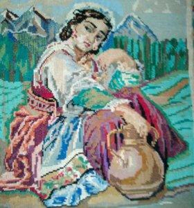 Картина вышивка крестом СССР