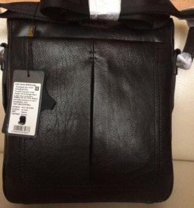 Кожанная мужская сумка Alba