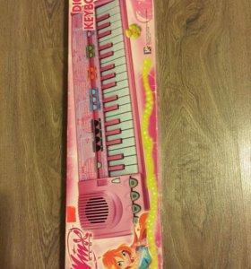 Синтезатор новый Winx В упаковке.