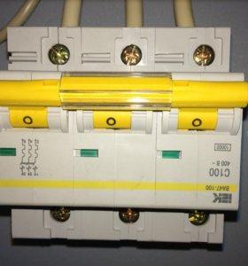 Автоматический выключатель 100 А на динрейке