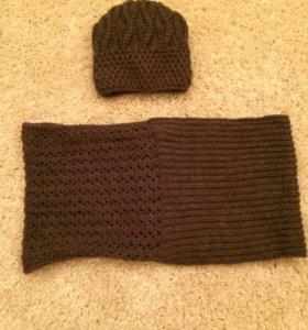 Шапка и шарф (снуд)