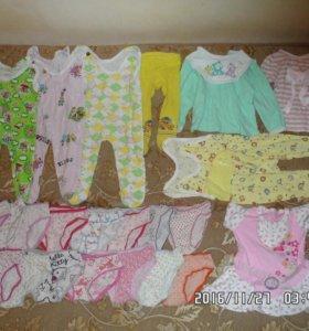 Одежда для девочки до года(и трусики до 3х лет)