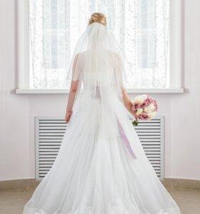Свадебное платье из Плюмаж-Л