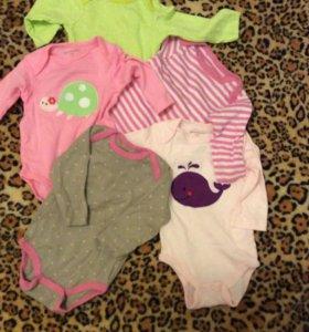 Вещи на девочку 2-3 месяца