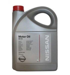 Масло моторное синтетическое Nissan 5W-40, 5литров