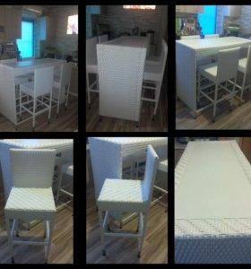 Комплект барной мебели из искусственного ротанга