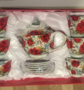 Чайный набор VaBene (14 предметов ) фарфор