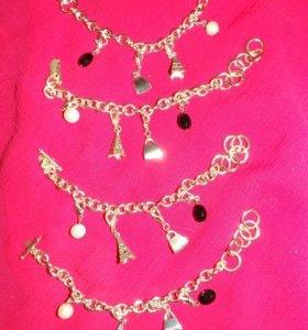 Новые браслеты с подвесками