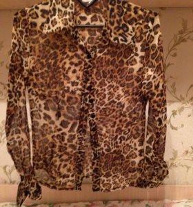 Рубашка леопардовая  Размер 42