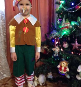 """Новогодний костюм """"Буратино""""-прокат."""