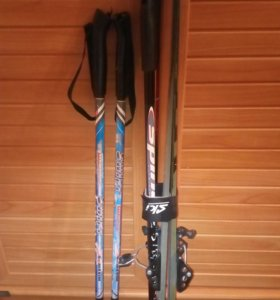 Лыжи + палки детские