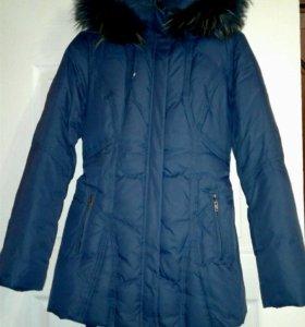 Удлиненный куртка-пуховик