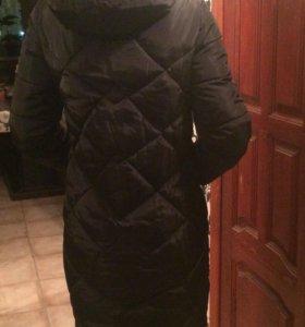 Длинное куртка пальто