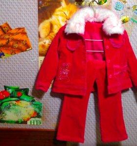 Продаю зимний кастюмчик на девочку, на 4,-5 лет.