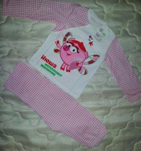Новая пижамка на девочку с Нюшей