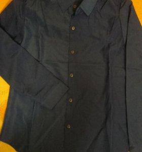 Новая рубашка синего цвета, размер S