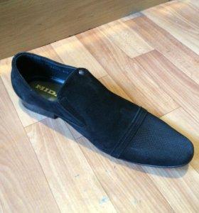 Натуральные замшевые туфли43р