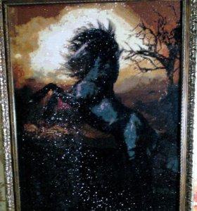 Чёрный конь.