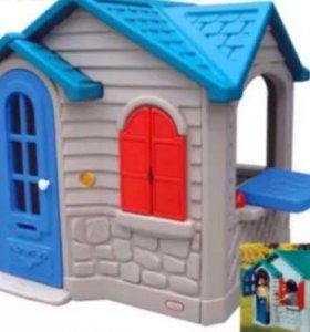 Детские игрушки. Домик пластиковый.