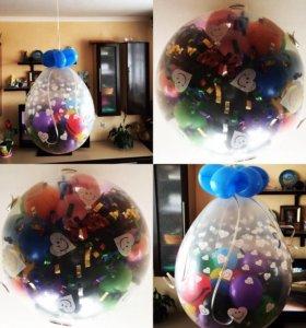 Цифры от 550 руб, шар-сюрприз от 500 руб.,