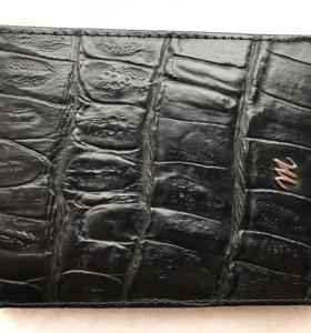 Мужское итальянское портмоне из кожи крокодила