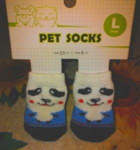 Ботинки и носки для собачки