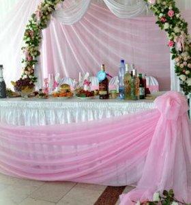 Скатерть для   свадебного стола