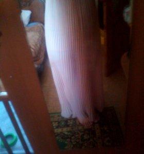 Платье бежевое 48 50 в пол