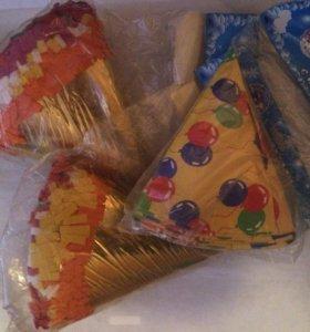 Колпачки для праздника в упаковке 6 шт