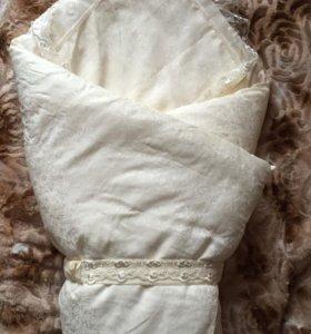 Конверт-одеяло+костюмчик для выписки
