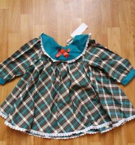 Платье новое для девочки 2-3 годика