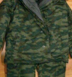 Куртка зимняя комуфлированная.