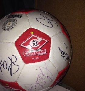 Мяч футбольный с росписями игроков Спартака 12 год