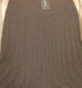 Шерстяная теплая юбка