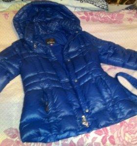 Куртка пуховик синий