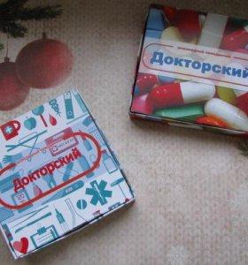 Шокобокс. Набор конфет птичье молоко,подарок врачу