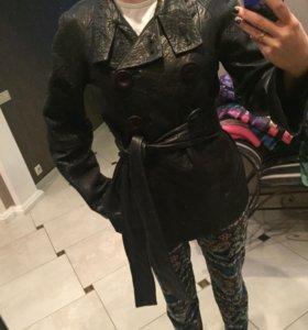 Новая кожаная куртка-пиджак Vespucchi
