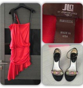 Платье Jennifer Lopez 40/42 xs/s босоножки