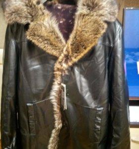 Куртка кожа, зима 50-52 Супер ЦЕНА