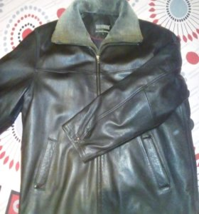 Куртка кожаная зима-осень