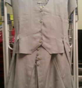 Костюм тройка( юбка, топ, пиджак)
