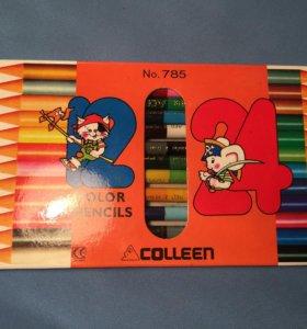Новые цветные карандаши