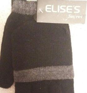 Новые варежки-перчатки