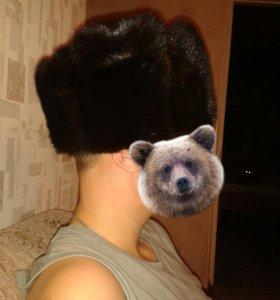 Мужская шапка-нат.норка