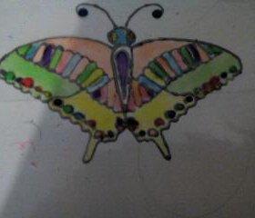 Картинка витражными красками