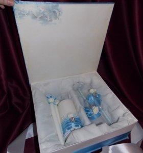 Свадебный набор Голубые мечты