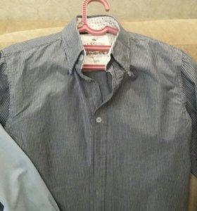 Рубашки школьные р.134-146 состояние на 5( разные