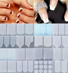 Трафарет френч для дизайна ногтей