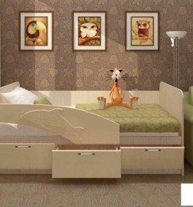 Детская кровать Дельфин 1.6 м. Новая. В наличии.